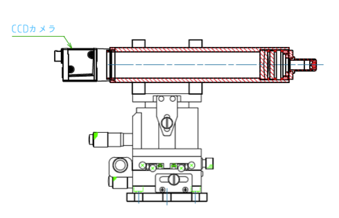 Microbeam measurement optical system set